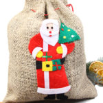 jute sack weihnachtsmann nikolaus