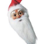 maske weihnachtsmann