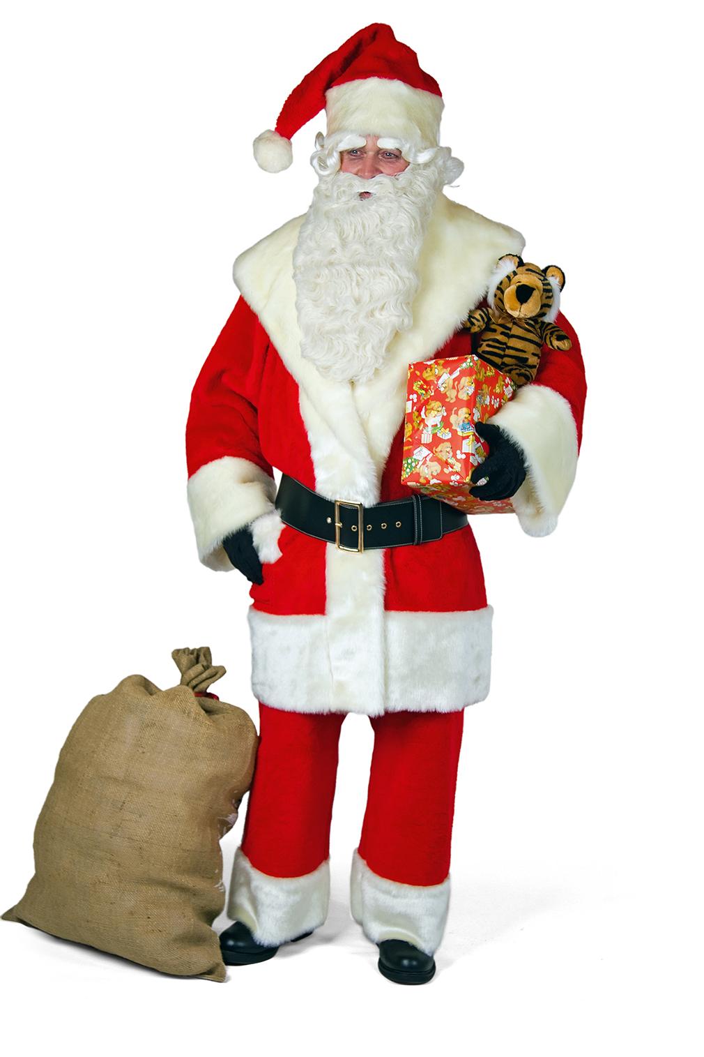weihnachtsmann anzug aus pl sch mit schalkragen. Black Bedroom Furniture Sets. Home Design Ideas